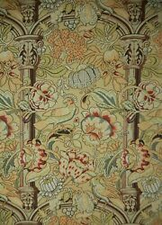 Clarence House Arts And Crafts Screen Printed Fabric. 4 Yds+ 10. F-237