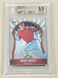 2011 Topps Finest 94 Mike Trout Rc Angels Bgs 9.5 W/ Quad 9.5and039s2299.99 Psa10