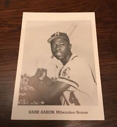 1962 Jay Publishing Hank Aaron Ex+ Stadium Issued Picture Pack Hofer Card Rare