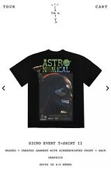 In Hand New Limited Authentic Travis Fortnite Jack Sicko Event Shirt 2 Sz Large