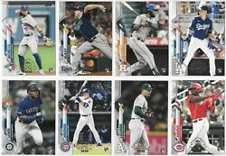 2020 Topps Chrome Update Preview Nbcd Complete 8 Card Set All Rookies
