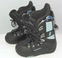 Burton Progression Black And Sky Blue Snow Board Boots Womenand039s 6 Excellent Cond.