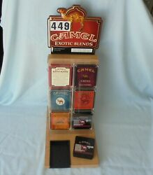 Camel Exotic Blends Cigarette Empty Tin Can Tobacco Store Display Sign 2001 Rj R