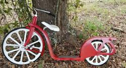 Vintage 1930and039s Hiawatha Scooter - Bicycle Mostly Restored Removable Seat Gimbles