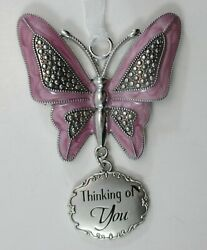yz Thinking of you BUTTERFLY Message Ornament ganz