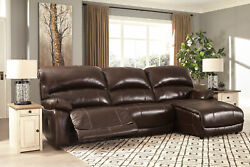 Modern Living Room Sectional Brown Leather Power Recliner 3 Piece Sofa Set If10