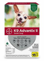 K9 Advantix II for Small Dogs 4 10 lbs 6 Pack NEW