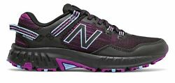 New Balance Women#x27;s 410v6 Trail Shoes Black with Plum