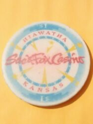 Sac And Fox Casino Kansas 1.00 Logo Chip Great For Any Vintage Collection