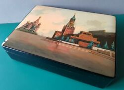 Huge And Large And Vintage Museum Quality Russian Fedoskino Lacquer Box Kirilov 1976