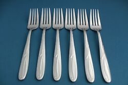 6 Salad Forks Mikasa Cocoa Blossom 18/10 Stainless Vietnam New 7 1/4