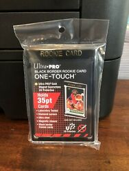 Ultra Pro One Touch Black Border Rookie Card 35 Point Card Holder Lot of 5