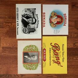 Vintage Cigar Box Labels Embossed Or Lithographs Mint Condition 8 Labels
