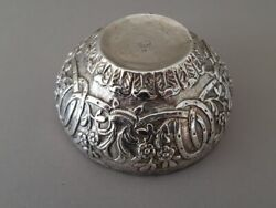 Antique Original Ottoman Hand-forged-engraved Sterling Silver Bowl Sultan Tugra