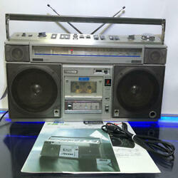Hitachi Trk-8800rm Stereo Boombox From Japan Retro Good Condition Used