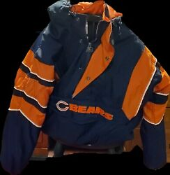Chicago Bears Winter Starter Coat Size L  excellent Condition