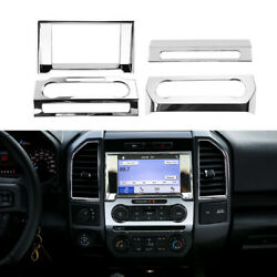 Ac+navigation+volume Adjust Switch Panel Cover Trim For Ford F150 2015-20 Chrome