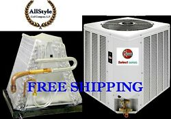 3.5 Ton R-410a 14 Seer Mobile Home Heat Pump Condensing Unit And Evaporator Coil