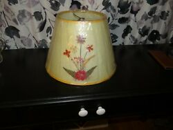 Vintage Dried Flower Parchment Lamp Shade 8-1/4 Tall