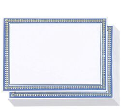Certificate Paper With Gold And Blue Border, Award Certificates