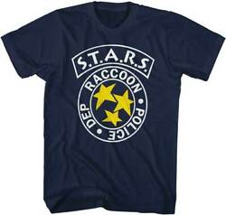 Resident Evil Movie Stars Racoon City Police Department Blue T-shirt Licensed