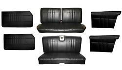 1965 Impala Coupe Front And Rear Bench Seat Upholstery And Panel Set, Any Color