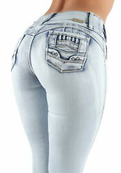 Womenand039s Juniors / Plus Size Colombian Design Butt Lift Mid Waist Skinny Jeans