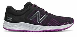 New Balance Womenand039s Fresh Foam Arishi V2 Shoes Black With Purple And Silver