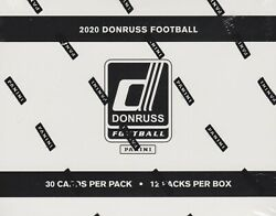 2020 Donruss Football sealed fat pack box 12 packs of 30 NFL cards $104.95