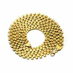 10k Yellow Gold 10mm Rx Chain Necklace Available In Lengths 18-30