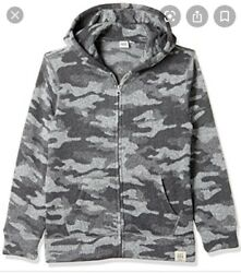 Gap Kids Camo Sweater Fleece with Hood Sz XXL 14 16 $12.99