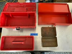 Snap On Tools, Blue Point Vintage Boxes And Bins 3 Pc For Storing Tools 114