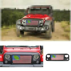 Fit For 2007-2017 Jeep Wrangler Jk American Flag Style Car Front Bumper Grille