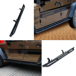 Black Steel Outer Welcome Pedal Foot Pedal For Jeep Wrangler 4dr Jk 2007-2017