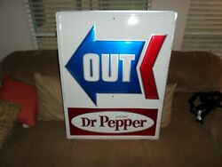 1970's/1980's Dr. Pepper In And 0ut Signs