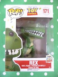 Rex Funko Pop From Disney's Up 171 Vaulted W/protector