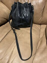 Vintage Leather Liz Claiborne Black Bucket Bag $25.00