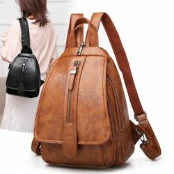 Women Vintage Travel Backpacks High Quality PU Leather Fashionable Ladies Bags $40.99