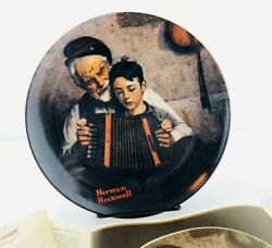Vintage Knowles The Music Maker By Norman Rockwell Plate Original Box
