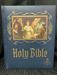 1971 Red Letter Edition Holy Bible Book Heirloom Masonic