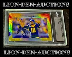 Jared Goff 2016 Leaf Executive Collection Masterpiece Xrc 1/1 First 1/1 Ever