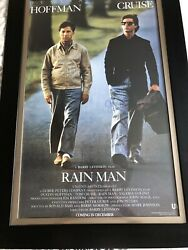 Rain Man Signed And Framed Movie Poster W/coa