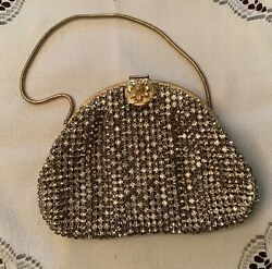 CARSON  PIRIE SCOTT VINTAG RHINESTONE GOLD EVENING BAG MADE IN WEST GERMANY $55.00