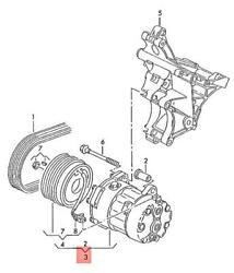 Genuine Vw Seat Beetle Cabrio Cabriolet Bettle New Ac Compressor 7m3820803bx