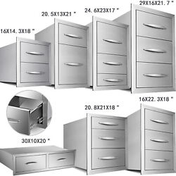 Double/triple Worktable Drawer Stainless Steel Outdoor Kitchen Bbq Access Drawer