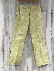 """St. John Sport By Marie Gray Floral Jeans Size 6 Waist Size 28"""" X 33"""" Inseam"""