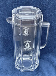 Bombay Sapphire Gin Large Clear Acrylic Pitcher W/ Lid