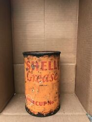 Vintage Shell Grease Can 5 Lb