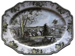 Johnson Brothers Friendly Village 20 And 12 Platters Made In England