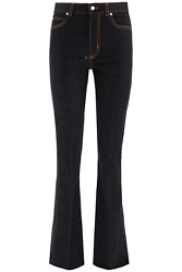 New Alexander Mcqueen Bootcut Jeans 628062 Qmaa3 Black Authentic Nwt